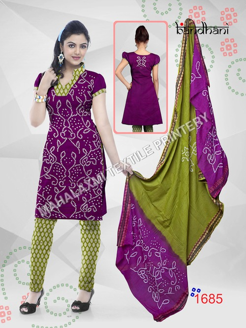 Bandhani Suit Materials