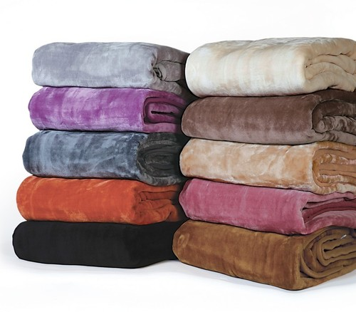Dyed Mink Blankets