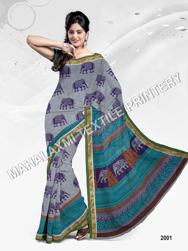 100% Cotton Sarees Exporter