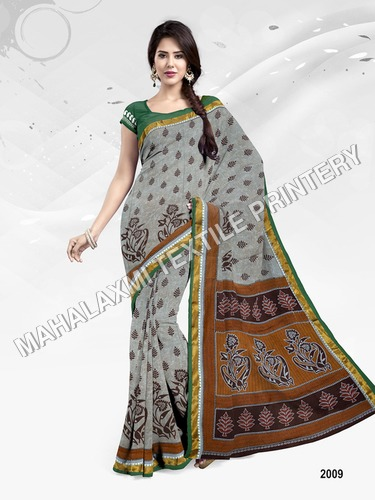 Pure Cotton Saree With Resham Border