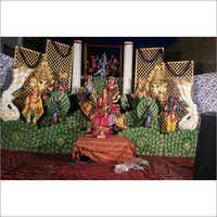 Darbar Decoration Fiber God Statue
