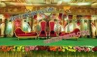 ROYAL INDIAN WEDDING STAGE FURNITURES 6843