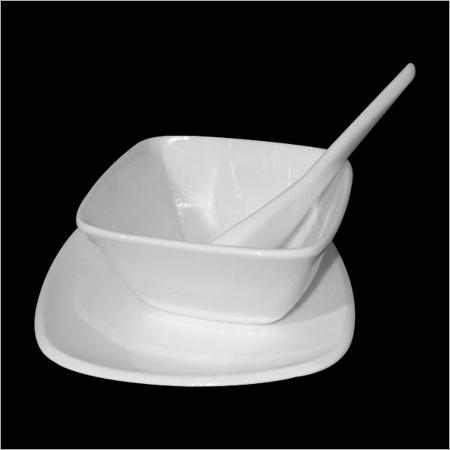 Acrylic Square Soup Bowls Set
