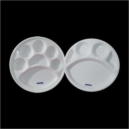 Acrylic Round Thali- Five & Seven Portion