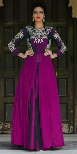 Purple Georgette Lovely Anarkali Suit