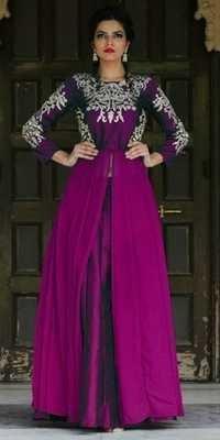 Purple Georgette Lovely Anarkali Suit