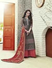 Multi Color Chanderi Cotton Party Wear Suit