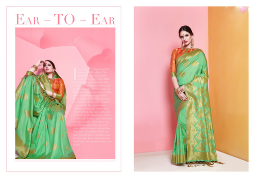 Partywear Art Silk Banarasi Saree