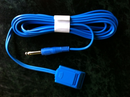 mono-pin type patient plate cable cord.