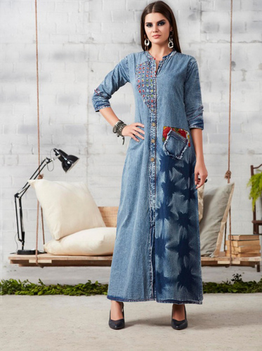 Latest Readymade Denim Gown