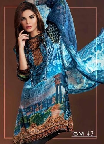Digital Printed Blue Suit