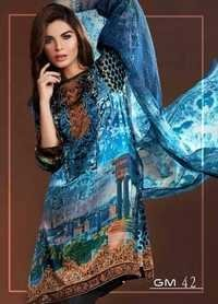 Digital Printed Blue Suit