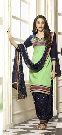 Beautiful Patiyalas On Pure Cotton With Chiffon Du