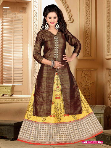 Latest Party Wear Skirt Style Suit