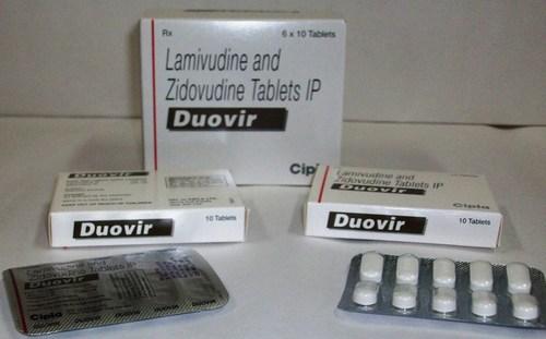 Duovir Lamivudine 150mg + Zidovudine 300mg Tablets