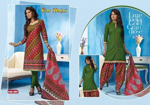 Patiala 100% Cotton Dress Materials
