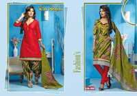Patiala Cotton Dress Materials