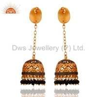 Gold Plated Fashion Jhumka Earrings