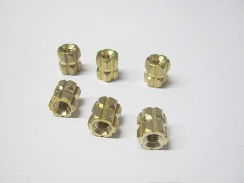 Brass Precision Hex Inserts