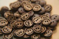 Coconut Shell Shirt Buttons with Name