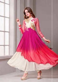 Multicolor Georgette Salwar Suit