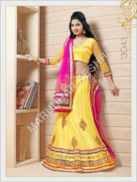 Fancy Yellow Wedding Lehenga