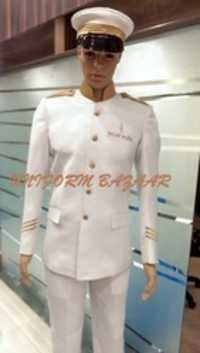 White With Gold Piping Driver Uniform