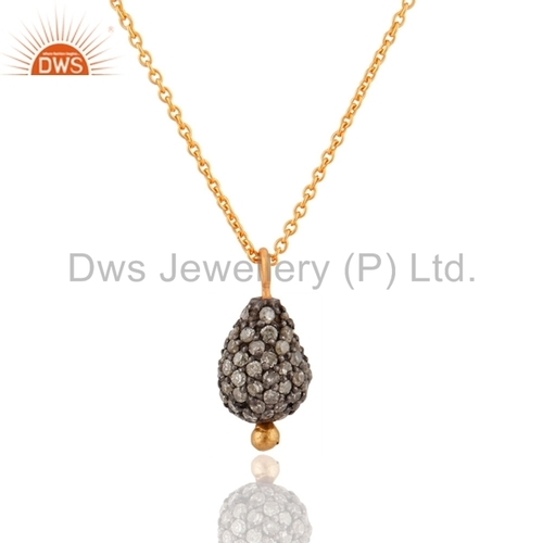 Pave Diamond Beads Pendant Jewelry