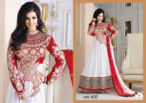 Ayesha Takia In White Designer Long Anarkali Suits