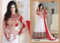 Ayesha Takia In White Designer Long Anarkali Suits