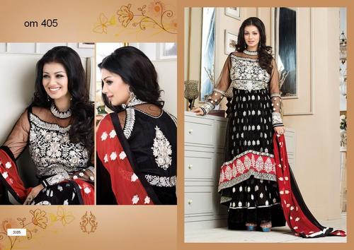Ayesha Takia In Black Designer Long Anarkali Suits