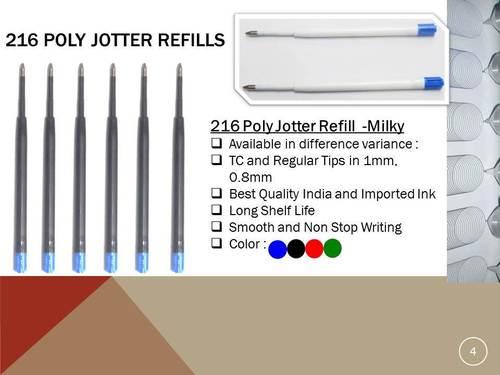 Plastic Poly Jotter Ball Pen Refills