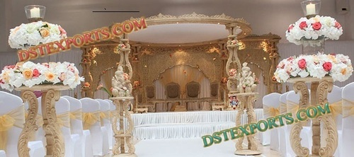 Wedding Elegent Wooden Mandap