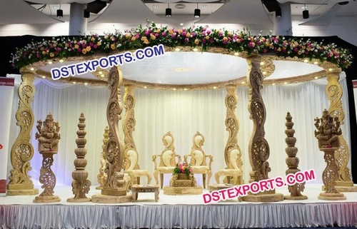 New Design Wedding Wooden Mandap