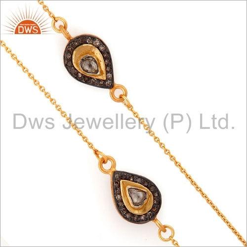 Pave Set Diamond Necklace Jewelry Supplier