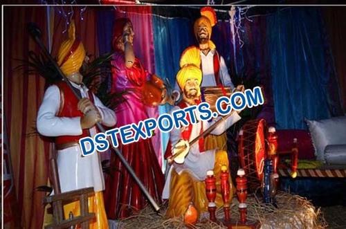 Punjabi Wedding Decoration Statues