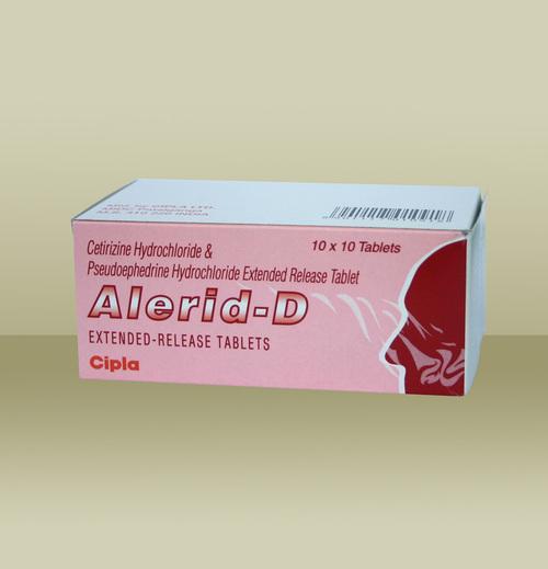 Alerid-D Cetirizine Hydrochloride And Pseudoephedrine Hydrochloride