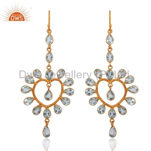 Handmade Semi-Precious Stone Earrings - Gold Vermeil