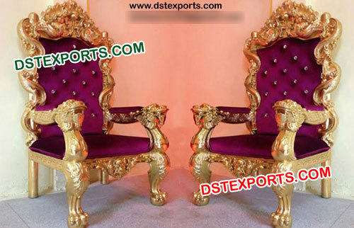 Wedding King & Queen Chair Set
