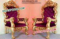 Wedding King & Queen Chair Set
