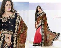 Leopard Printed Stunning designer partywer saree