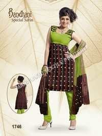 Bandhani Satin Cotton Dress