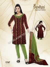 Bandhani Dress Special Satin
