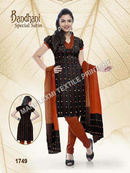 Bandhani Satin Cotton Dresses