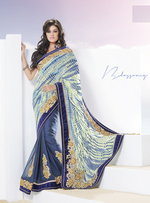 Royal Indigo Blue Extreme Stylish Saree