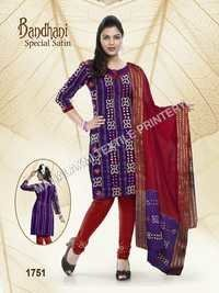 Bandhani Satin Cotton Dresses