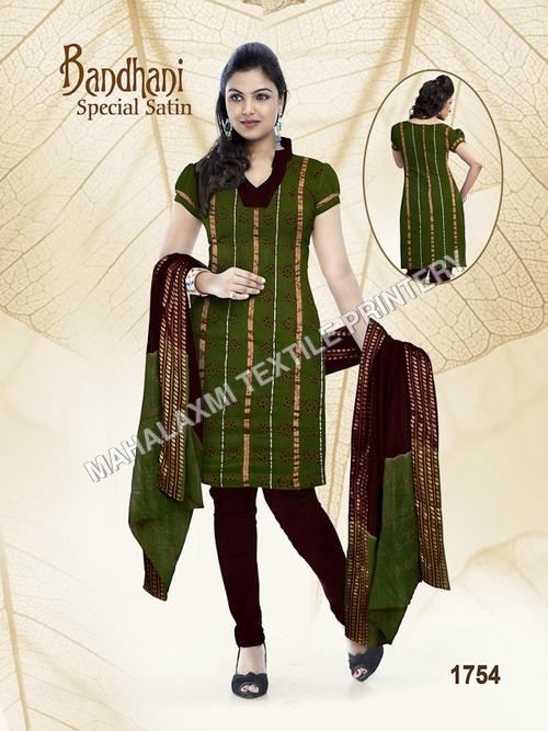 Bandhani Satin Cotton Dress