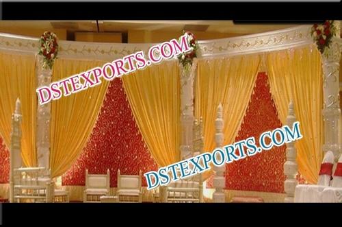 Wedding Golden Carved Stage
