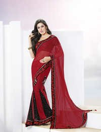 Exotic Maroon kalidar saree