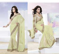 Heavy Designer Light  Pista Partywear Saree